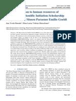The Contribution to human resources of Institutional Scientific Initiation Scholarship Program of the Museu Paraense Emílio Goeldi