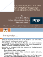 Approaches to Background Writing and Objectives Derivation