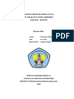 Sampul Laporan Praktek Kerja Nyata Di PT. KRAKATAU STEEL
