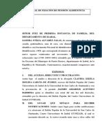 JUICIO ORAL DE FIJACION DE PENSION ALIMENTICIA