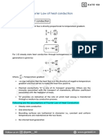 Fourier Law of heat conduction(Gate60 short notes)