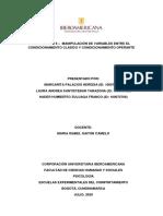 Actividad 6 - Tarea - Manipulación de variables entre el condicionamiento clásico y condicionamiento operante
