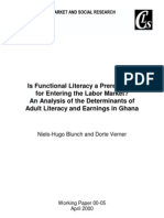 FUNCTIONAL LITERACY - JOB MARKET PREREQUISITE