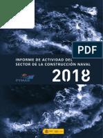 INFORME DE ACTIVIDAD DEL SECTOR DE CONSTRUCCIÓN NAVAL AÑO 2018