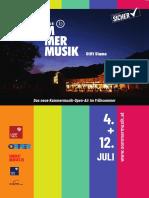 Flyer Sommermusik
