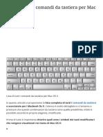 Lista di tutti i comandi da tastiera per Mac OS X
