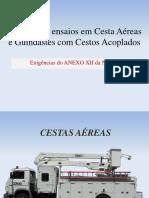 Inspeções e ensaios em Cesta Aéreas e Guindastes com Cestos Acoplados. Exigências do ANEXO XII da NR-12