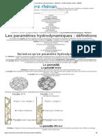 Les paramètres hydrodynamiques _ définitions - ©2020