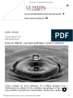 L'eau en Algérie_ un enjeu politique, social et sanitaire
