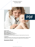 case history of Focal Pneumonia