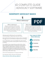 Clear and Complete Guide to Nonprofit Advocacy