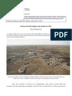 SHEEPPERSON Destruccion del antiguo sitio de Mari en Siria