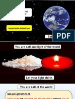 Salt N Light Sermon PPT