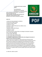 AMISOM Troops Continue With Mission Mandate Despite COVID-19 Disruptions