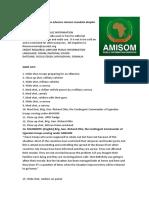 AMISOM Troops Advance Mission Mandate Despite COVID-19 Disruptions
