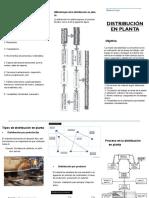 folleto distribución en planta