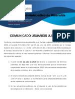 COMUNICADO USUARIOS JUDICIALES TCA-ok