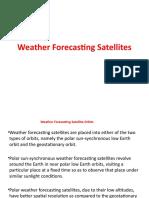 Weather Forecasting Satellites