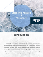 discourse analysis & Phonology