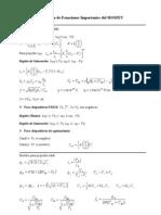 TABLA 5_1 Resumen de Ecuaciones Importantes del MOSFET