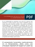 SEWSION 8 LA CONDICION HUMANA Y EL SENTIDO DE LA ADMINISTRACION