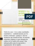 SESION 2- SISTEMAS VIVOS - QUIMICA  DE LA VIDA