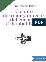 El canto de amor y muerte del corneta Cristobal Rilke - Rainer Maria Rilke.pdf