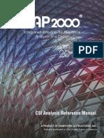 SAP2000. Manual de Referencia de Análisis CSI. INGLÉS