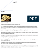 MoneyWeek - When should you Sell your Gold  03-24-10