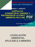 CAP III - AVANCES EN EL CONTROL Y PREVENCION DE LA CONTAMINACION AMBIENTAL EN LA MINERIA