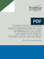 Conflictos sociales por corrupción en los gobiernos locales