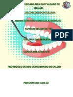 PROTOCOLO DE USO DE HIDROXIDO DE CALCIO
