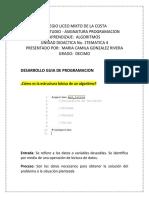Desarrollo Taller de Programación  Maria Camila Gonzalez Rivera 10 Grado