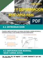 CAP. 4 ESFUERZO Y DEFORMACION
