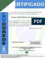 certificado deficienia