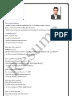 English Resume send