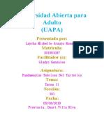Fundamentos Teoricos del Turismo tarea lV ( Laycha Araujo)