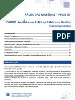 Ebook PPGG DF CESPE Analista