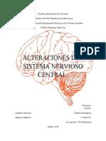 ALTERACIONES DEL SISTEMA NERVIOSO CENTRAL