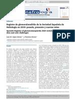 9. Registro de glomerulonefritis de la sociedad española de nefrología 2019