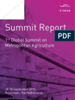 1st Global Summit On Metropolitan Agriculture