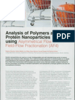 Analysis of Polymers and Protein Nanoparticles using Asymmetrical Flow Field-Flow Fractionation