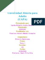 Historia Dominicana Tarea V (Laycha Araujo)