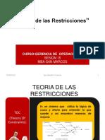 TEORIA DE RESTRICCIONES-ACTUALIZADO 2018