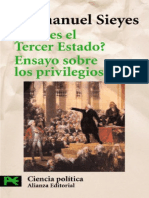 Emmanuel sieyes - ¿qué es el tercer estado ensayo sobre los privilegios