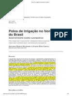 BUANAIN, Antonio e GARCIA, Junior Ruiz. Polos de irrigação no Nordeste do Brasil.