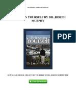 Believe in Yourself by Dr Joseph Murphy