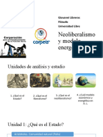 Neoliberalismo y modelo energético