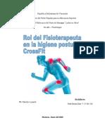 ROL DEL FISIOTERAPEUTA EN CROSSFIT