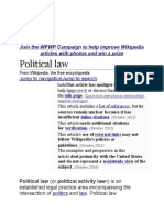 what is political law by wikipedia